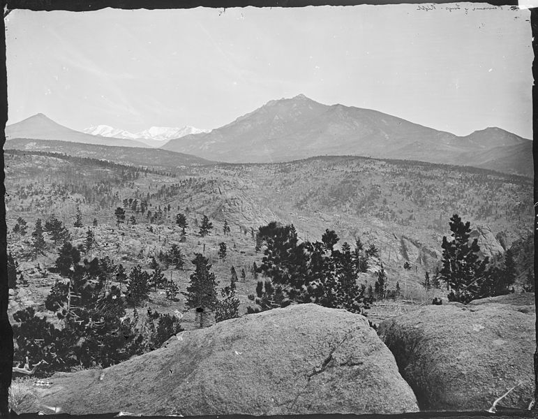Long's Peak - panorama showing Mount Lilly, Colorado