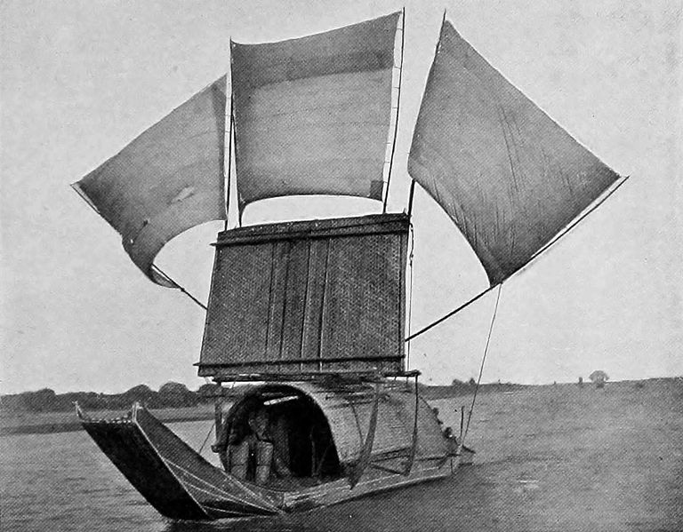 Isabella Bird: A boat on the Min River