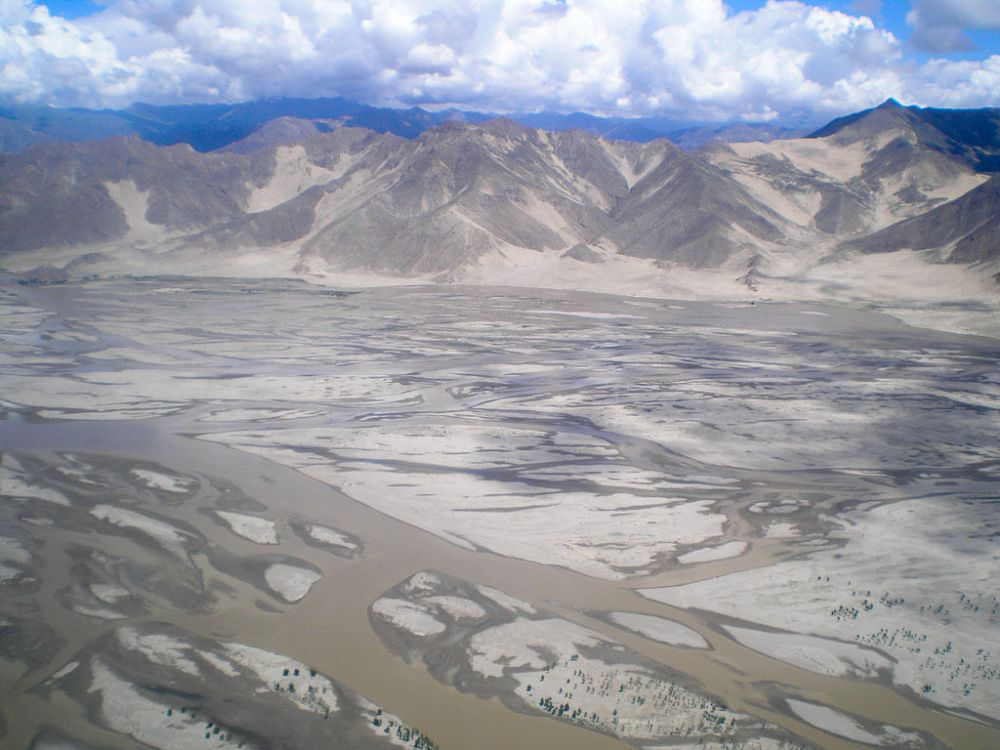 The Yarlung Tsangpo in Tibet, before its descent in the canyon