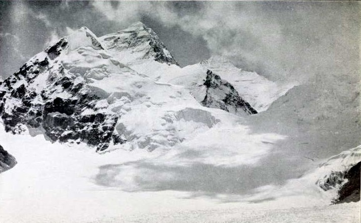 Everest and Changtse, photograph by G Mallory, from 'Mount Everest - the Reconnaissance, 1921', by C K Howard-Bury