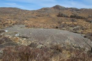 Striated rock, Ardnamurchan