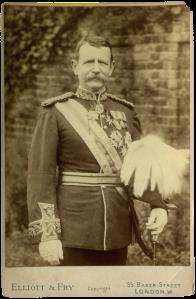 Sir Charles Warren by Elliott & Fry, c.1886