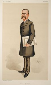 Caricature of Warren in Vanity Fair, 1886