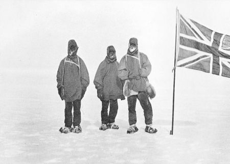 Marshall, Wild, Shackleton, 9 Jan 1909, Heart of the Antarctic