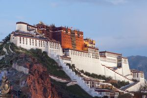 The Potala Palace in Lhasa, residence of the Dalai Lama until 1959